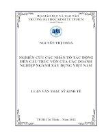 NGHIÊN CỨU CÁC NHÂN TỐ TÁC ĐỘNG ĐẾN CẤU TRÚC VỐN CỦA CÁC DOANH NGHIỆP NGÀNH XÂY DỰNG VIỆT NAM.PDF