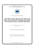 GIẢI PHÁP HOÀN THIỆN HOẠT ĐỘNG XẾP HẠNG TÍN DỤNG ĐỐI VỚI DOANH NGHIỆP TẠI NGÂN HÀNG THƯƠNG MẠI CỔ PHẦN NGOẠI THƯƠNG VIỆT NAM.PDF