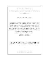 NGHIÊN CỨU HIỆU ỨNG TRUYỀN DẪN CỦA TỶ GIÁ ERPT VÀO LẠM PHÁT Ở VIỆT NAM TRƯỚC VÀ SAU KHI GIA NHẬP WTO (2000-2011).PDF