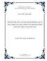 MỐI LIÊN HỆ GIỮA ĐẶC ĐIỂM HỘI ĐỒNG QUẢN TRỊ VÀ HIỆU QUẢ HOẠT ĐỘNG CỦA DOANH NGHIỆP NIÊM YẾT TRÊN THỊ TRƯỜNG CHỨNG KHOÁN VIỆT NAM.PDF