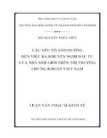 CÁC YẾU TỐ ẢNH HƯỞNG ĐẾN VIỆC RA KHUYẾN NGHỊ ĐẦU TƯ CỦA NHÀ MÔI GIỚI TRÊN THỊ TRƯỜNG CHỨNG KHOÁN VIỆT NAM.PDF