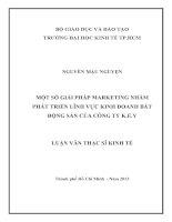 MỘT SỐ GIẢI PHÁP MARKETING NHẰM PHÁT TRIỂN LĨNH VỰC KINH DOANH BẤT ĐỘNG SẢN CỦA CÔNG TY K.E