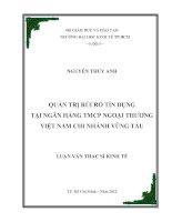QUẢN TRỊ RỦI RO TÍN DỤNG TẠI NGÂN HÀNG TMCP NGOẠI THƯƠNG VIỆT NAM CHI NHÁNH VŨNG TÀU.PDF