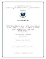 MỘT SỐ GIẢI PHÁP HOÀN THIỆN HOẠT ĐỘNG QUẢN LÝ CHẤT LƯỢNG TẠI CÔNG TY TNHH THIẾT KẾ RENESAS VIỆT NAM ĐẾN NĂM 2015.PDF