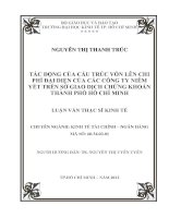 TÁC ĐỘNG CỦA CẤU TRÚC VỐN LÊN CHI PHÍ ĐẠI DIỆN CỦA CÁC CÔNG TY NIÊM YẾT TRÊN SỞ GIAO DỊCH CHỨNG KHOÁN THÀNH PHỐ HỒ CHÍ MINH.PDF