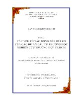 CÁC YẾU TỐ TÁC ĐỘNG ĐẾN RỦI RO CỦA CÁC DỰ ÁN ĐẦU TƯ TRƯỜNG HỌC - NGHIÊN CỨU TRƯỜNG HỢP THÀNH PHỐ HỒ CHÍ MINH.PDF