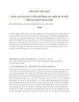 VĂN HAY TIỂU HỌC Đoạn văn hay lớp 3 Viết một đoạn văn ngắn kể về một tiết học mà em thích nhất