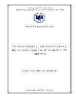 ỨNG DỤNG NGHIỆP VỤ BAO THANH TOÁN NỘI ĐỊA TẠI NGÂN HÀNG ĐẦU TƯ VÀ PHÁT TRIỂN VIỆT NAM.PDF