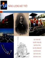 bài giảng về năng lượng mặt trời