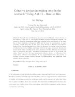 "Cohesive devices in reading texts in the textbook ""Tiếng Anh 12 – Ban Cơ Bản"