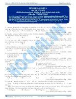 Axit, bazơ, muối và pH của dung dịch - Trắc nghiệm Hóa học 12