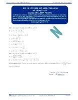 Giá trị lớn nhất và nhỏ nhất của hàm số - Bài tập tự luyện Toán 12 - Phần 1