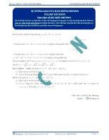 Sự tương giao của hàm phân thức - Tài liệu Toán 12 - P3
