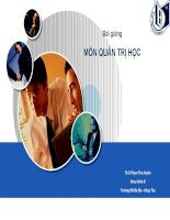 Bài giảng môn quản trị học chương 1   đại cương về quản trị