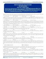 Phương pháp bảo toàn electron - Trắc nghiệm Hóa học 12