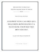 Giải pháp nâng cao hiệu quả hoạt động kinh doanh của Ngân hàng TMCP Bảo Việt đến năm 2015