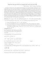 Khai thác tính chất hình học trong bài thi Tuyển sinh năm 2014