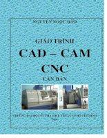 GIÁO TRÌNH CAD   CAM   CNC căn bản   TRƯỜNG đại học sư PHẠM kỹ THUẬT TP HCM