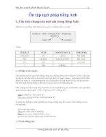 Ôn tập ngữ pháp tiếng Anh - Sưu tầm và thiết kế bởi Phạm Việt Vũ