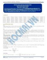 Đáp án - Phương pháp đếm nhanh số đồng phân (Phần 1) - Trắc nghiệm Hóa học 12