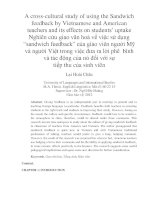 A cross-cultural study of using the Sandwich feedback by Vietnamese and American teachers and its effects on students' uptake