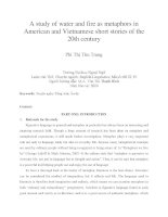 A study of water and fire as metaphors in American and Vietnamese short stories of the 20th century