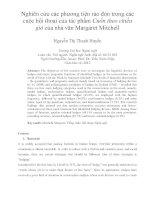 Nghiên cứu các phương tiện rào đón trong các cuộc hội thoại của tác phẩm Cuốn theo chiều gió của nhà văn Margaret Mitchell