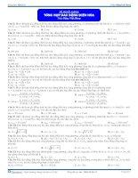 Tổng hợp về Dao động điều hòa -Trắc nghiệm - Vật lý 12
