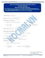 Các phương pháp tính Tích phân - Tài liệu Toán 12 - P3