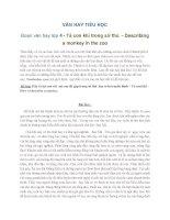 VĂN HAY TIỂU HỌC Đoạn văn hay lớp 4 - Tả con khỉ trong sở thú - Describing a monkey in the zoo
