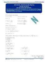 Hàm số mũ, hàm số Logarit - Tài liệu Toán 12 - P2