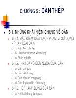 bài giảng kết cấu thép   chương 5  thiết kế dàn thép