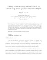 A Study on the Meaning and structure of an Default fairy-tale a systemic functional analysis