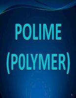 bài giảng polymer đầy đủ