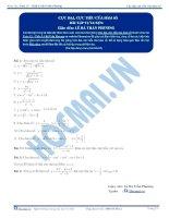 Cực đại cực tiểu của hàm số - Bài tập tự luyện Toán 12 - Phần 1