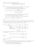 bài tâp xác suất thống kê có lời giải chi tiết