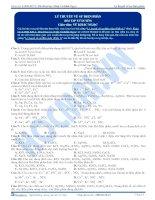 Lý thuyết về sự điện phân - Trắc nghiệm Hóa học 12