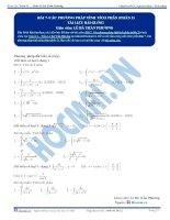 Các phương pháp tính Tích phân - Tài liệu Toán 12 - P2