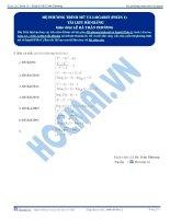 Hệ phương trình Mũ, Logarit - Tài liệu Toán 12 - P1