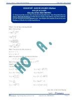 Hàm số mũ, hàm số Logarit - Bài tập tự luyện Toán 12 - P2