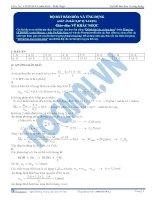 Đáp án - Độ bất bão hòa và ứng dụng - Trắc nghiệm Hóa học 12
