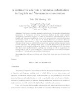A contrastive analysis of nominal substitution in English and Vietnamese conversation