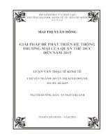GIẢI PHÁP ĐỂ PHÁT TRIỂN HỆ THỐNG THƯƠNG MẠI CỦA QUẬN THỦ ĐỨC ĐẾN NĂM 2015.PDF