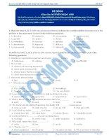 Đề thi môn Tiếng Anh - Khóa học LTĐH KIT-2 (Cô Nguyễn Ngọc Anh) - Đề 4