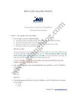 Đề thi chuyên viên QHKH và Hỗ trợ tuyển dụng vào ngân hàng Quân đội MB - 07.09.2010
