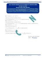 Biện luận số nghiệm của phương trình - Bài tập tự luyện Toán 12