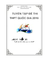 Tuyển tập đề thi THPT quốc gia môn vật lý (có đáp án)