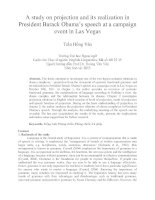 A study on projection and its realization in President Barack Obama's speech at a campaign event in Las Vegas