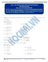 Các phương pháp tính Tích phân - Bài tập tự luyện Toán 12 - P2
