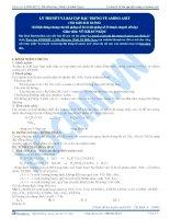 Lý thuyết và bài tập đặc trưng về Amino axit - Tài liệu Hóa học 12